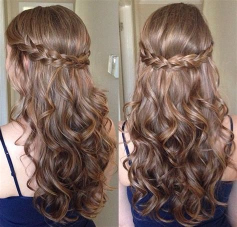 Hairstyles With Curls by Best 25 Curly Braided Hairstyles Ideas On