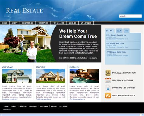 real estate web design top level web design