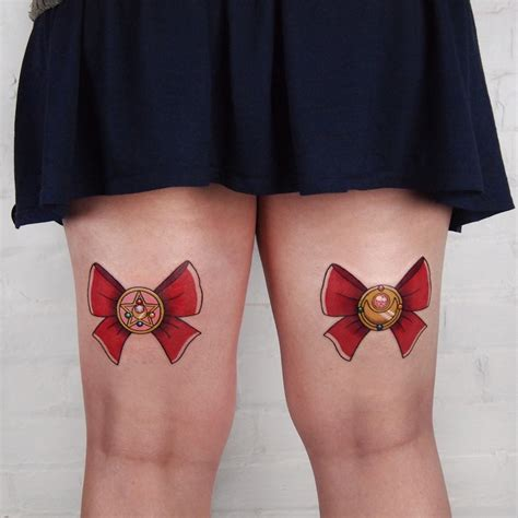 sailor moon bows by jessica channer me at tattoo people