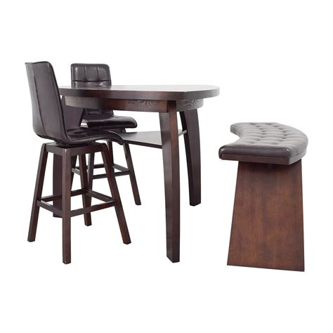 bar stool bench 76 off bob s furniture bob s furniture boomerang bar