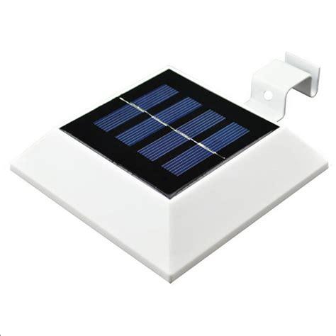 solar powered led outdoor lights for gutter solar powered 4 led gutter spot light outdoor garden fence