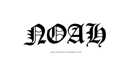 noah tattoo noah name designs