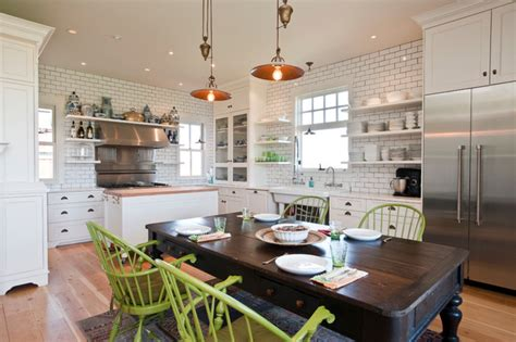 kitchen island instead of table white kitchen farmhouse kitchen other metro by