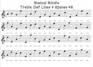 Note Reading Practice Worksheets by Musical Minute