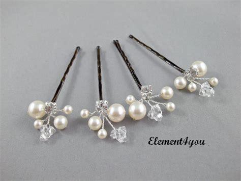 ivory clip bridal pins wedding accessories