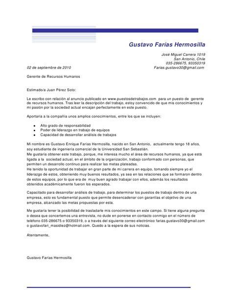 carta de presentacion ejemplo trabajo social carta de presentacion