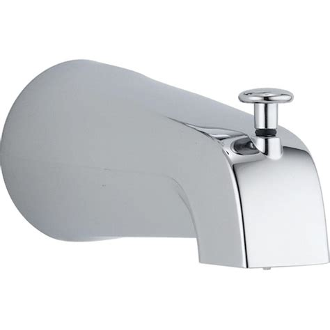 bathtub faucet spout diverter tub spout in chrome rp19895 the home depot