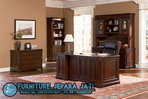Meja Kantor Set set meja kantor minimalis jepara jati