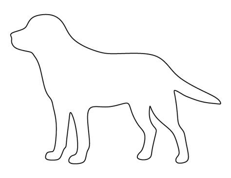 labrador pattern use the printable outline for crafts
