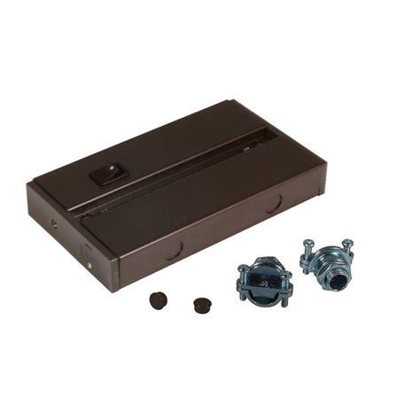 under cabinet led junction box irradiant dark bronze hardware junction box for led under