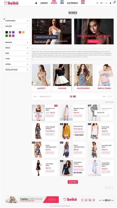 shopify themes themeforest seiko shopify theme by bigsteps themeforest