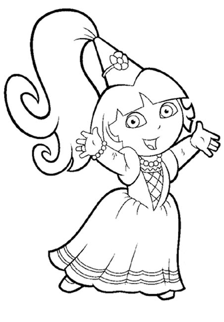 coloring pages free dora dora the explorer coloring pages coloringpages1001 com