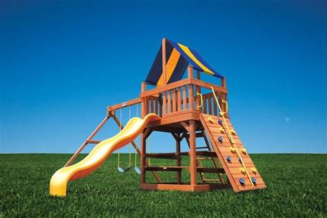 superior swing sets superior play original fort with 2 position swing beam