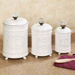 White Kitchen Canister Sets by Circa White Ceramic Kitchen Canister Set