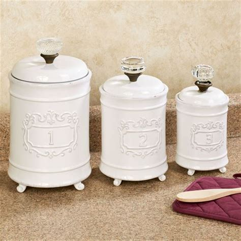 vintage white ceramic canisters set of 3 circa white ceramic kitchen canister set