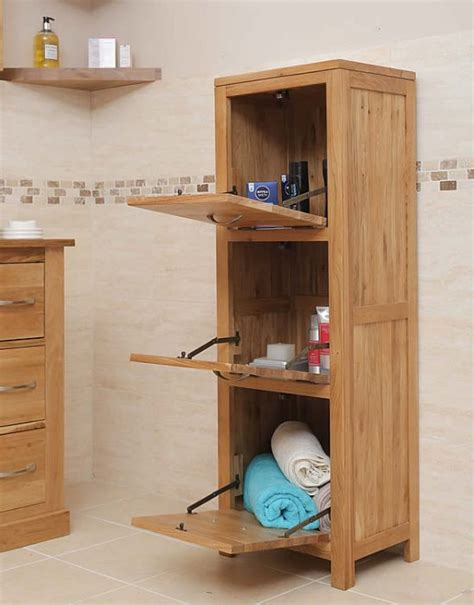50 Off Solid Oak Free Standing Bathroom Storage Unit Oak Bathroom Furniture Freestanding