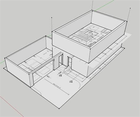 floor plan sketchup house elevated 1010 design
