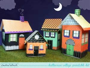 halloween village houses halloween village candy boxes gift card box luminaries