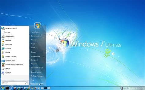 windows 7 desktop themes germany is there an ubuntu theme available to make it look like