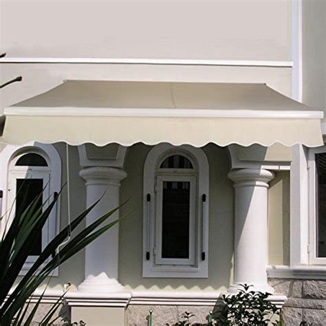 manual awnings for decks goplus 174 manual patio 6 4 215 5 retractable deck awning