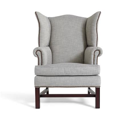 Wingback Chair Upholstery by Thatcher Upholstered Wingback Chair Pottery Barn