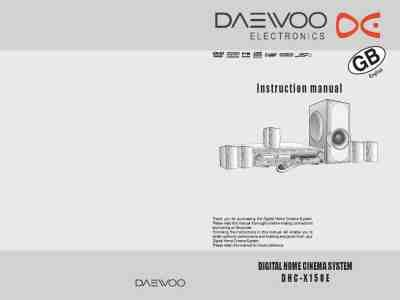 daewoo dhc x 100 e home theater manual for free