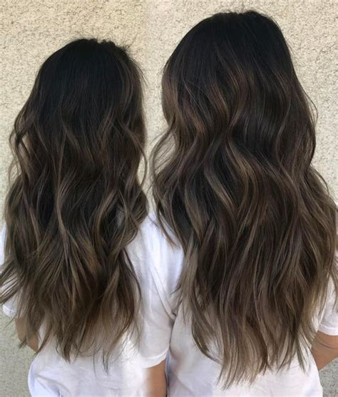 dark ash blonde balayage on dark hair 35 smoky and sophisticated ash brown hair color looks