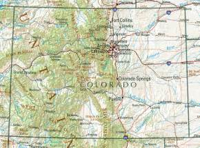 colorado map of us colorado reference map