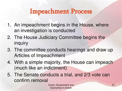 What Officers Can The House Impeach by Ppt Chapter 9 The Executive Branch Powerpoint