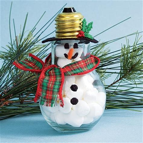christmas crafts on pinterest lightbulb ornaments