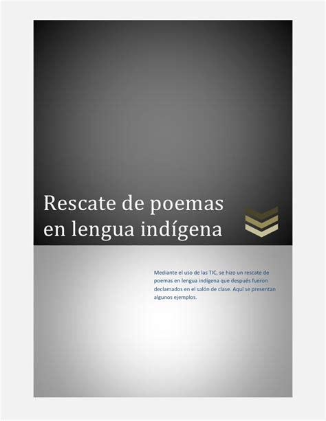 poemas cortos de indijenas poemas indigenas