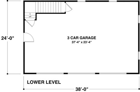 dimensions of a 3 car garage garage plan 74802 at familyhomeplans
