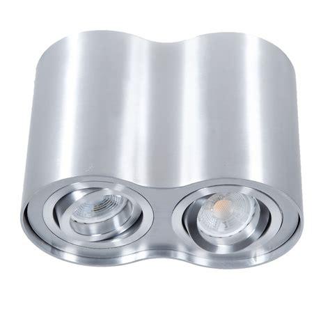 downlight 2 flammig aus aluminium inklusive led 2 x 7 watt