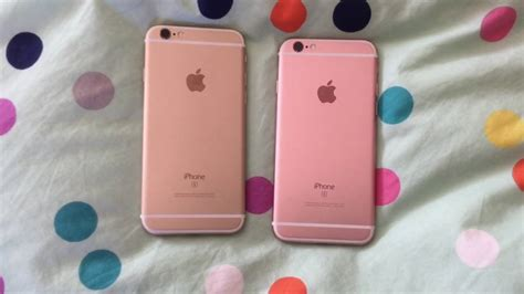 Unterschied Pink Rosa by Gold Vs Gold Iphone 6s