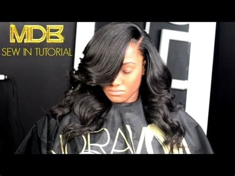 sewi in tutorials with leave out traditional sew in tutorial small leave out heavy bang