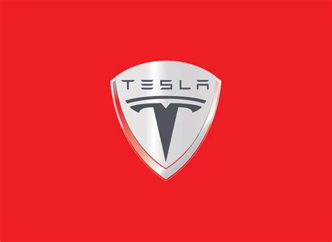 Tesla Car Symbol The Tesla Motors Logo Is A Cross Section Of An Electric Motor