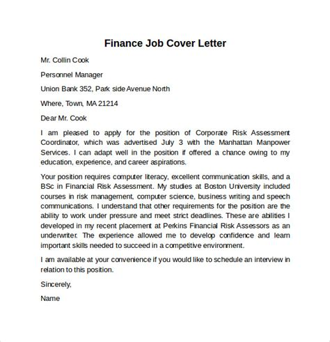 Advanced Registered Practitioner Cover Letter by Cover Letter Exle For 10 Free Documents In Word