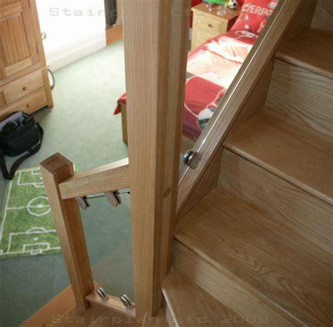 Stair Banister Installation S Vision Glass Balustrade System Oak Handrails Stair