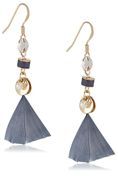 Marks And Spencer Oval Drop Earrings by Marks And Spencer Indigo Collection Mini Feather Cluster