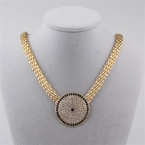 wholesale costume jewelry fashion pave gold