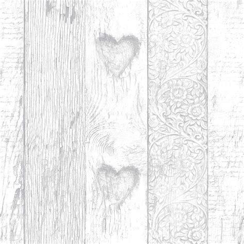 graham brown fresco plank love heart wallpaper
