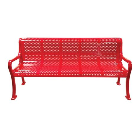 leisure craft benches roll formed perforated benches with arms