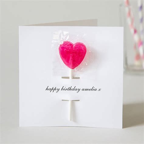 birthday card personalised birthday card with lollipop by twenty seven