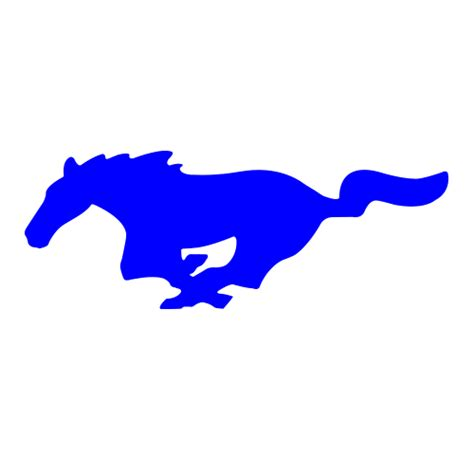 mustang silhouette clipart best