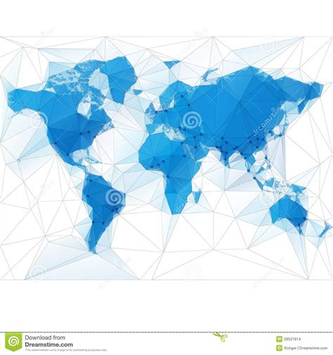world map plus cities world map illustration with largest cities stock vector