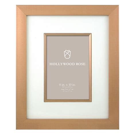 Picture Frames 8x10 Matted by Matilda 8x10 Matted To 5x7 Picture Frame Gold