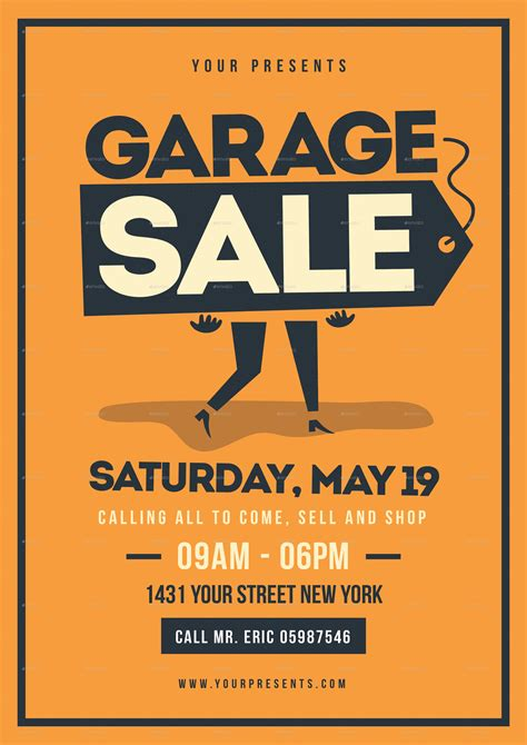 garage sale template retro garage sale flyer by lilynthesweetpea graphicriver