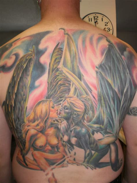 devil and angel tattoo images designs