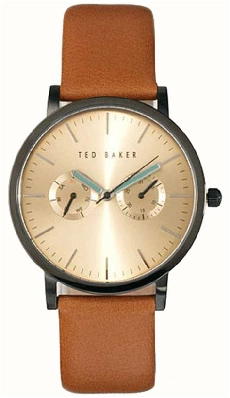 Ted Baker Te10024783 ted baker mens multi brown leather gold te1094 class watches