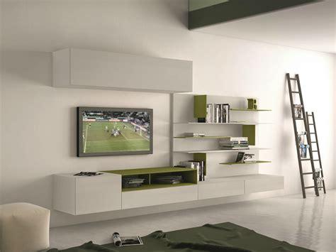 mobili a muro parete attrezzata componibile fissata a muro con porta tv